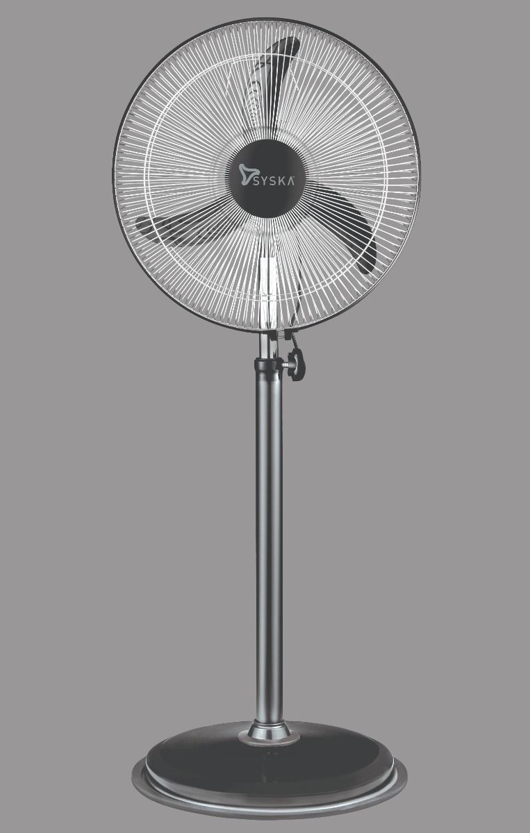Syska SFFF18 WHIRLMAX-PLUS 450 mm 3 Blade Pedestal Fan  (Black, Pack of 1)