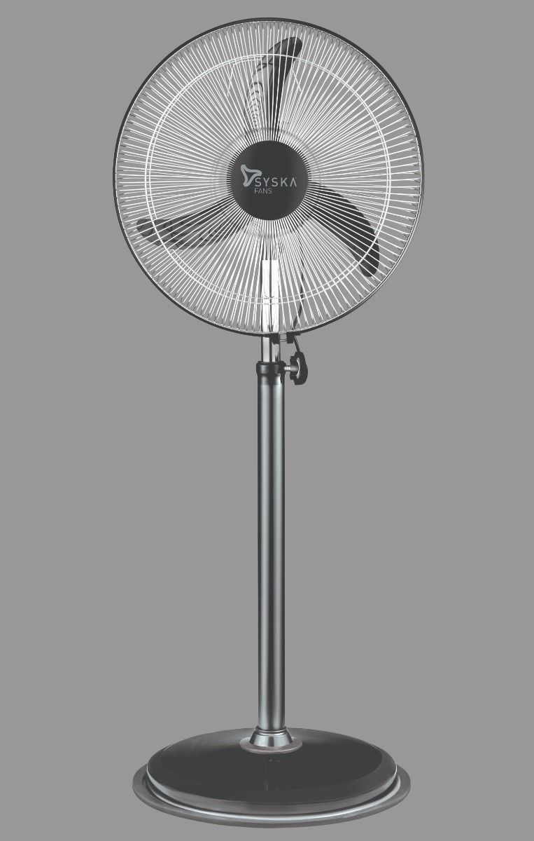 Syska SFFF16 WHIRLMAX 400 mm 3 Blade Pedestal Fan  (Black, Pack of 1)