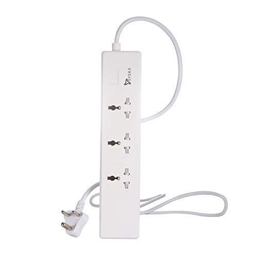 Syska Smart Wifi-Enabled 3 Socket Spike Buster with 4 USB Port compatible with Alexa and Google