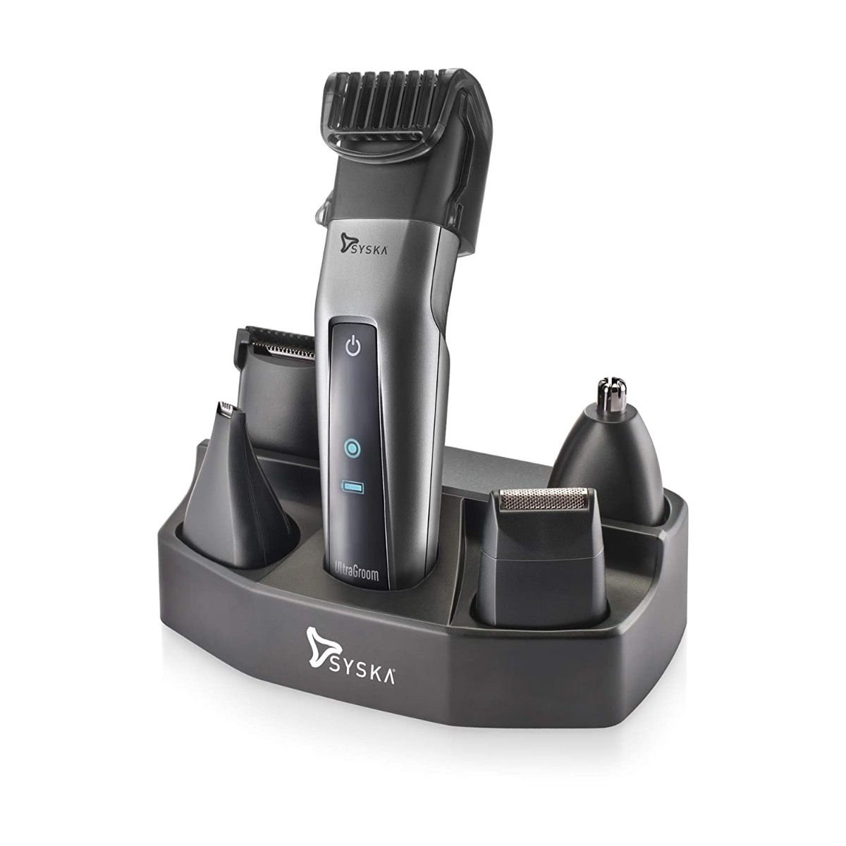 Syska UltraGroom ProStyling Kit HT3052K/02 Runtime: 50 min Trimmer for Men  (Silver, Black)