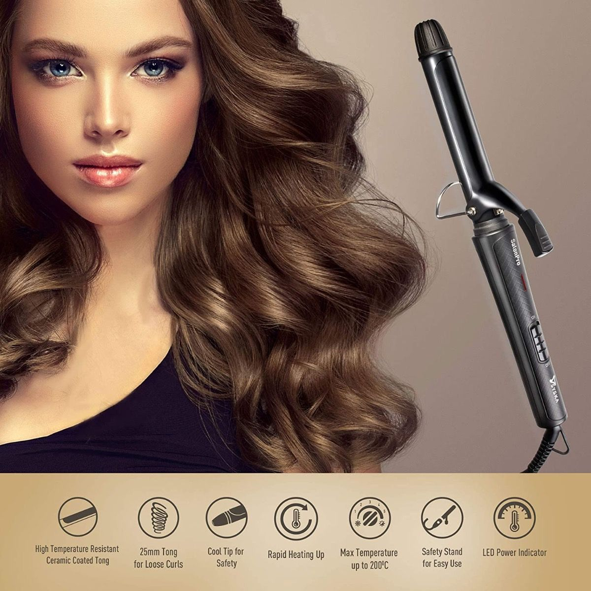 HC750 SalonPro Hair Curler (Barrel Diameter: 25 mm)