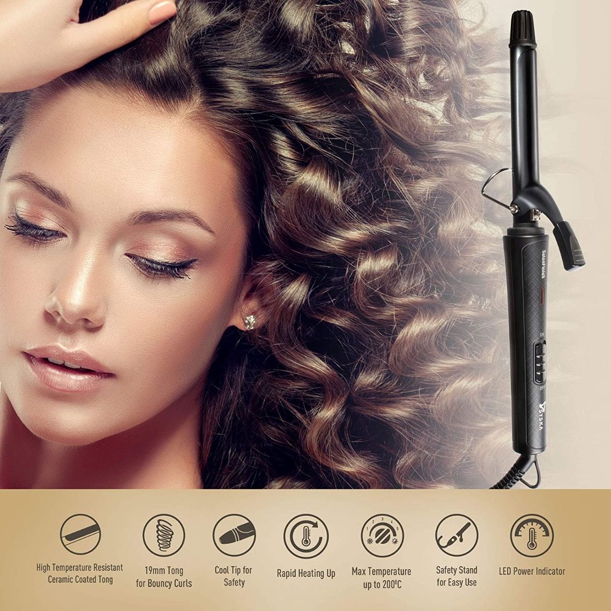 Syska HC700 SalonFinish 19mm Hair Curler