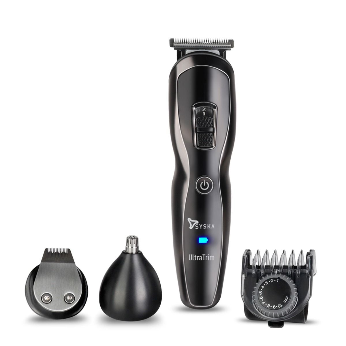 Syska HT3333K UltraTrim ProStyling Grooming Kit Runtime: 60 min Trimmer for Men (Black)