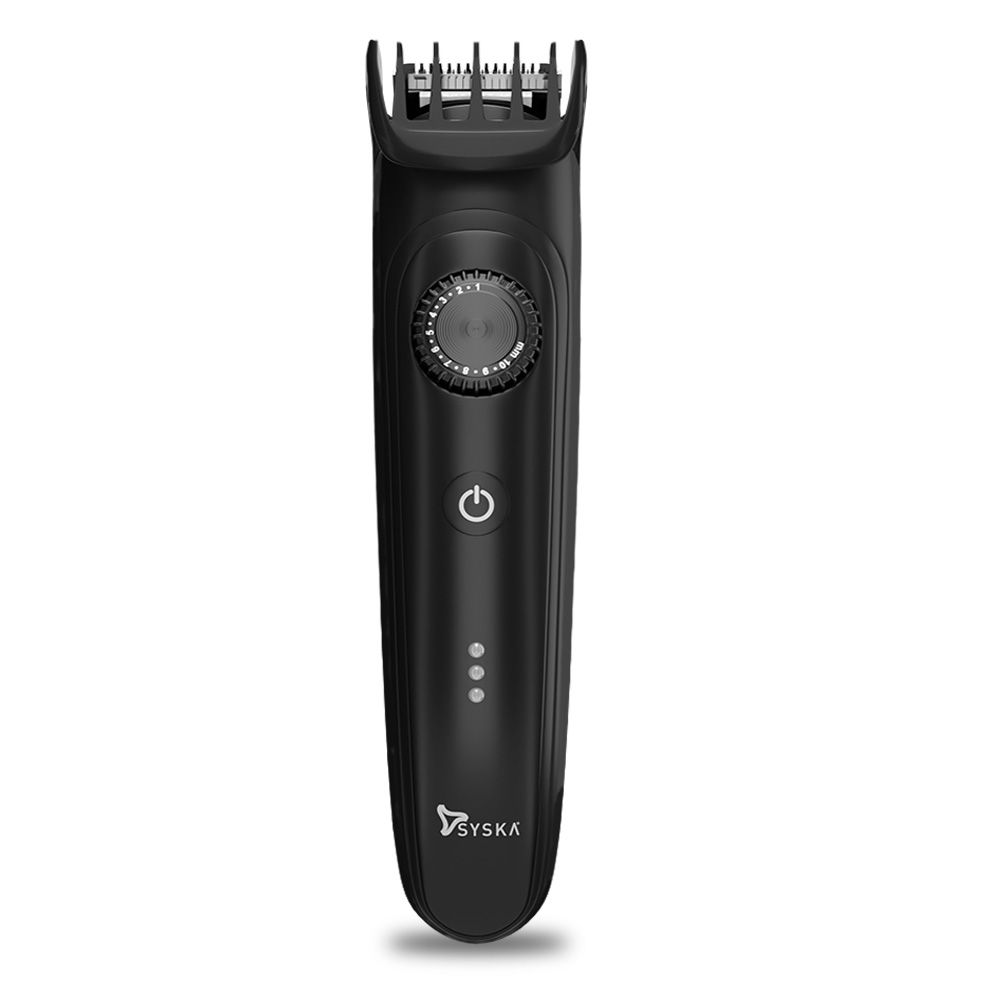 SYSKA HT900 Beard Pro with 40 Setting, Cordless and Corded Use, Easy Washable and 120 Min Working Time (Black)