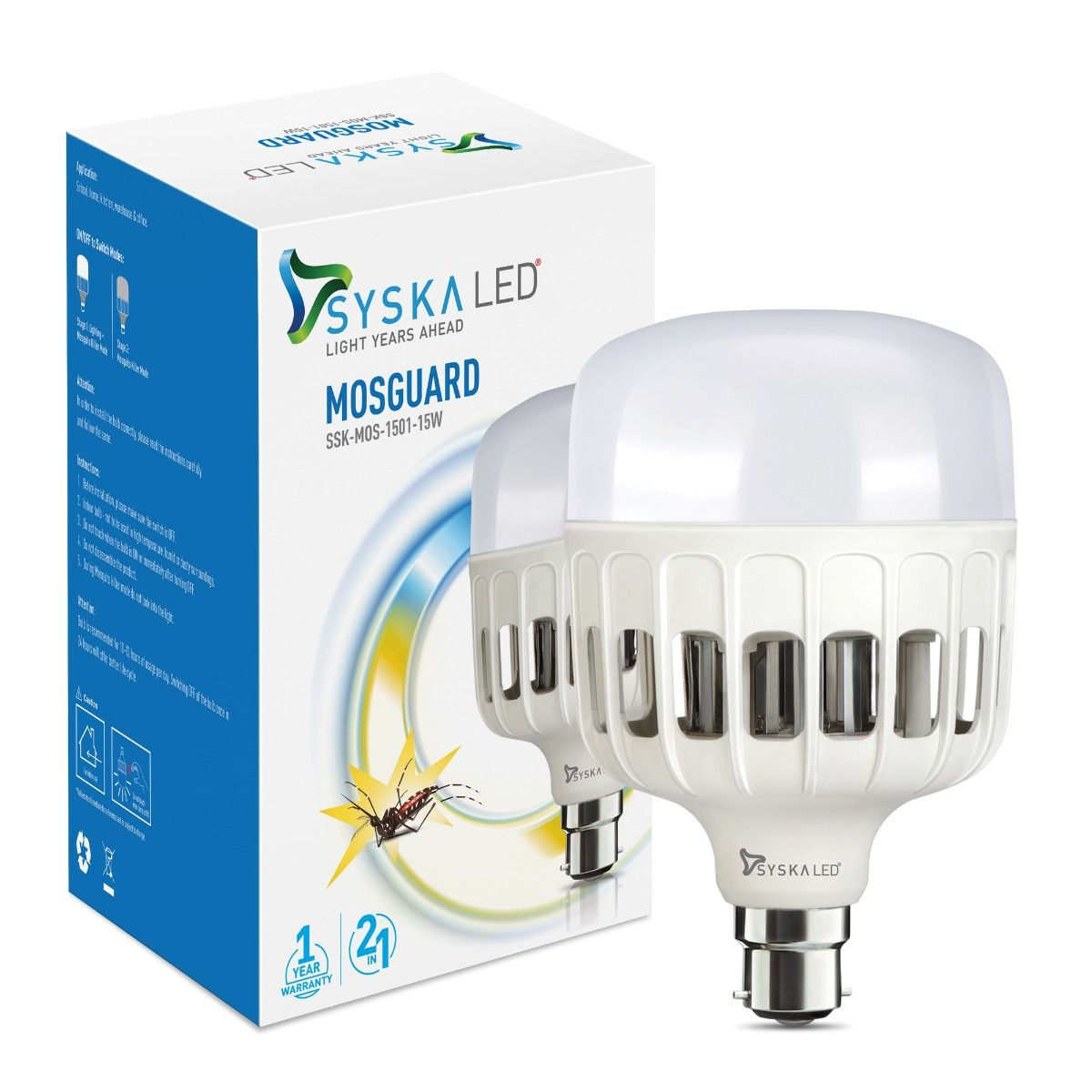 Mosguard Anti-Mosquito 15W Led Bulb