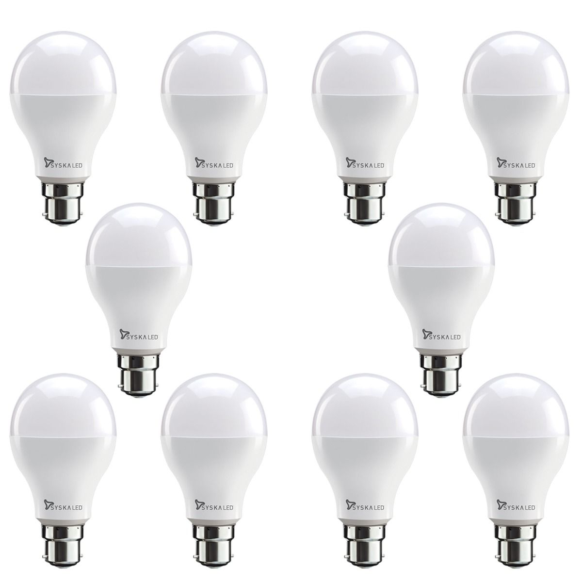 Syska SRL-9W Led Bulb (Cool day Light) (Pack of 10)