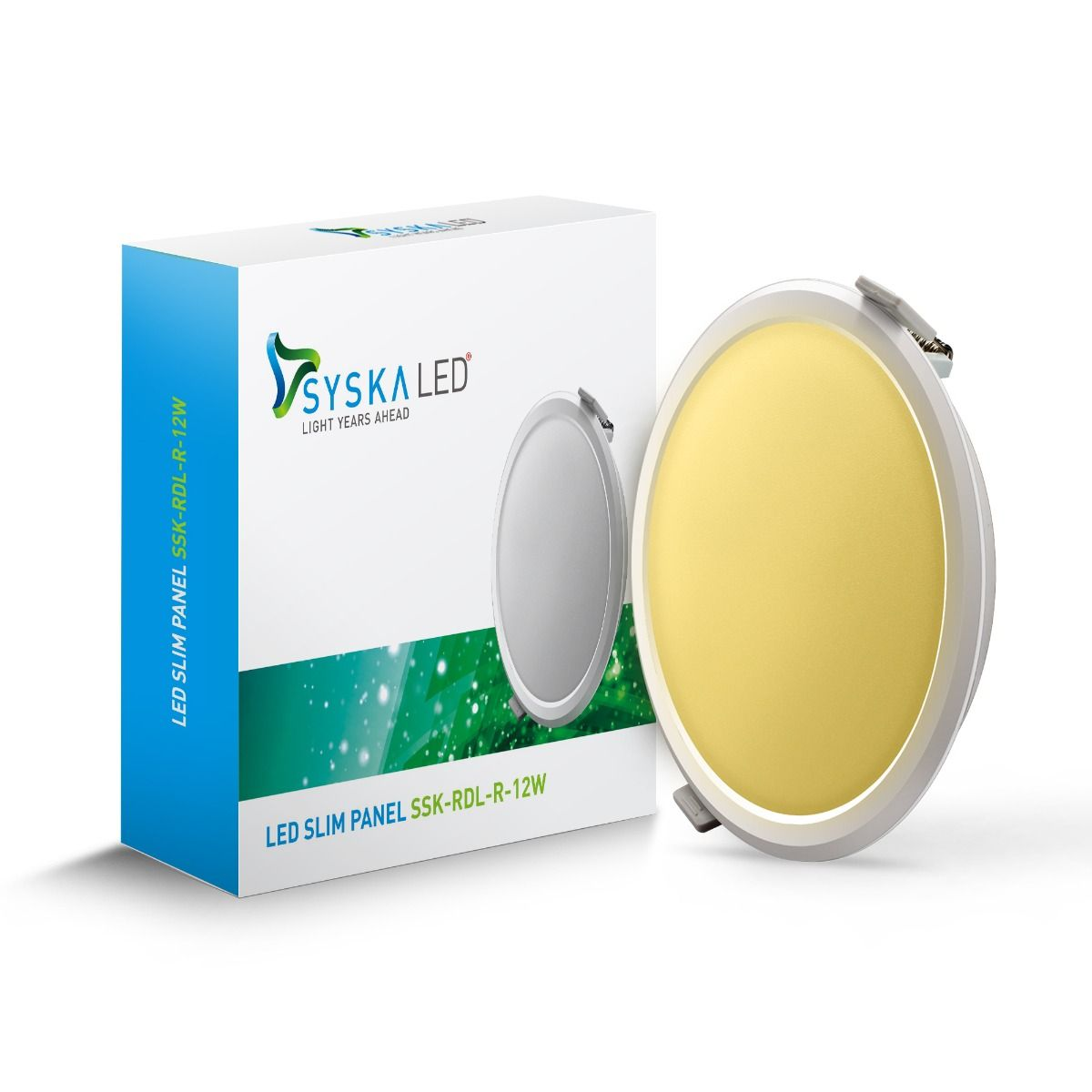 Syska RDL Round LED Slim Downlight-12W-3000K (yellow)