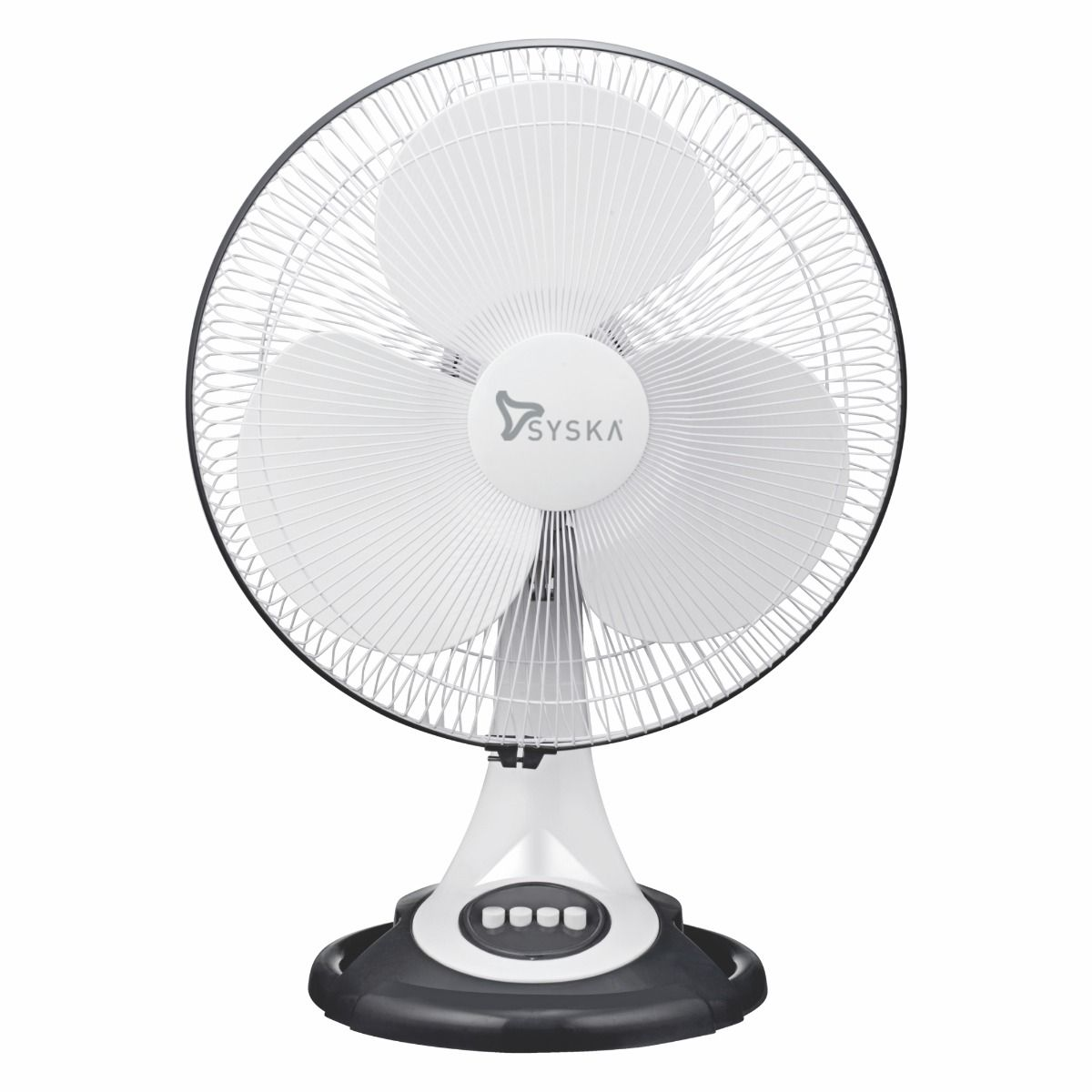 Syska SFTF10 BRISA 400mm 3-Blade Table Fan (White, Pack of 1)