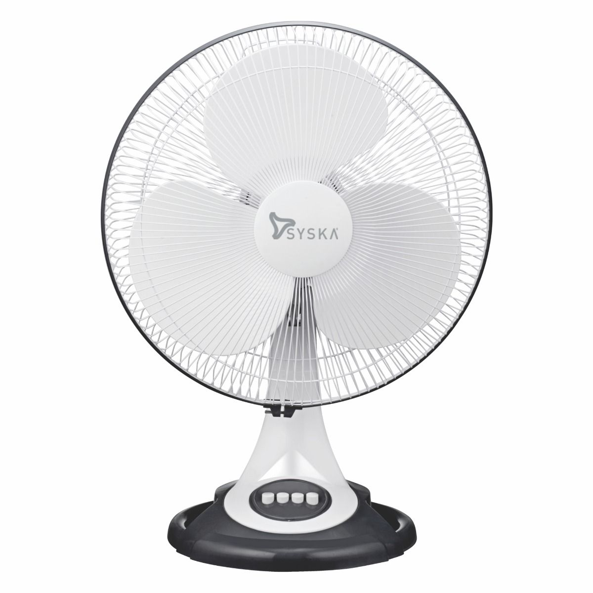 Syska SFTF10-H BRISA-MAX 400mm 3-Blade High Speed Table Fan (White, Pack of 1)