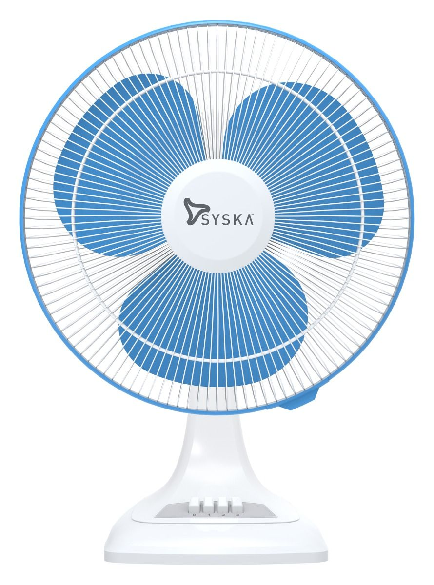 Syska SFTF16 TWIRLPRO 400mm 3-Blade Table Fan (Blue, Pack of 1)