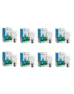 SYSKA 9W LED Bulb with Energy Saving, No-Mercury, Up to 50000 Hours Life Spans- White (Pack of 8)