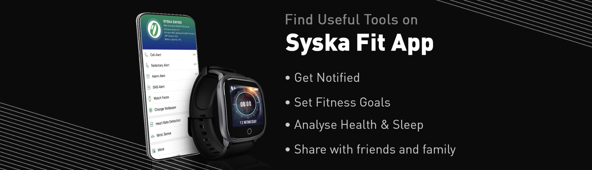 Syska Smart Watch 100