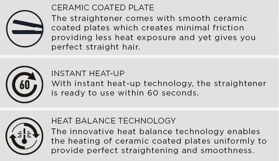 HS6820 Hair Straightener features